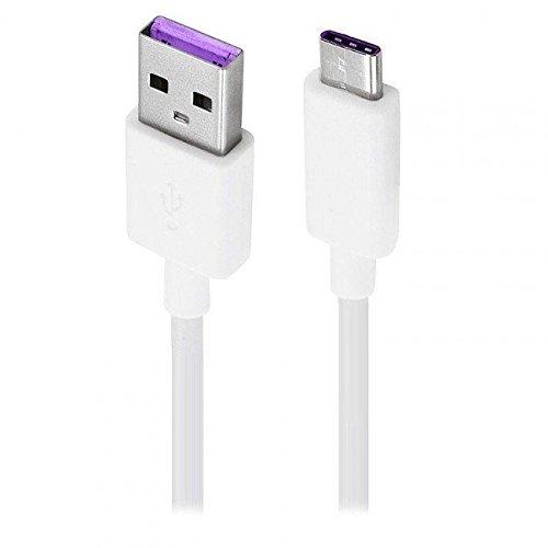 Original Huawei HL1289 5A USB 3.1 Typ C Superfast USB Datenkabel für Huawei P9 / P9 Plus / P10 / P10 Plus/Mate 9 / Nova/Nova 2 – Weiß (Großpackung)