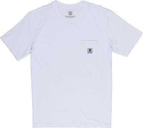 Element Basic Pocket Label - Camiseta de Manga Corta para Hombre Camiseta de Manga Corta, Hombre, Optic White, XS