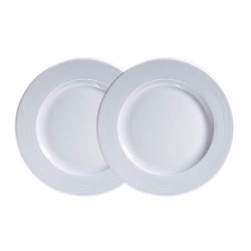 Kahla Nature - Vajilla de porcelana (2 unidades, 26 cm), color blanco