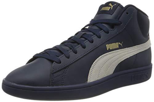 PUMA Smash V2 Mid L, Zapatillas Unisex Adulto, Azul (Peacoat White/Gold), 38.5 EU