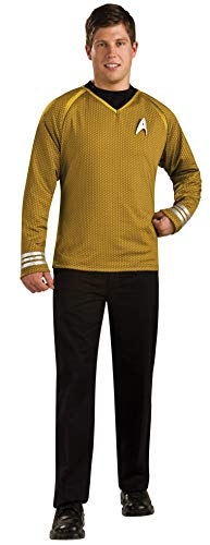 Rubie's Star Trek Into Darkness Grand Heritage Captain Kirk Shirt With Emblem, Gold/Black, Small Costume -  Rubies Costumes - Apparel, 889154-S