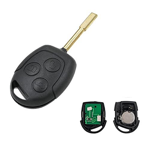Heart Horse 433 Mhz Llave de entrada remota de 3 botones con chip 4D63 para F-ord Mondeo / Fiesta / Fusion / Transit