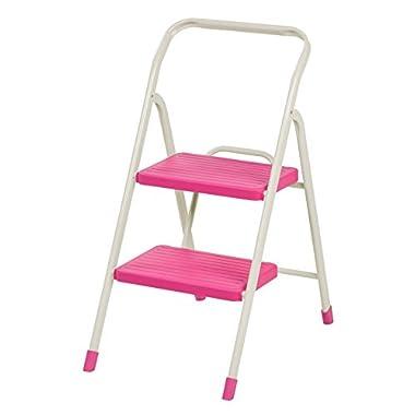IRIS 2-Step Folding Step Stool, Pink