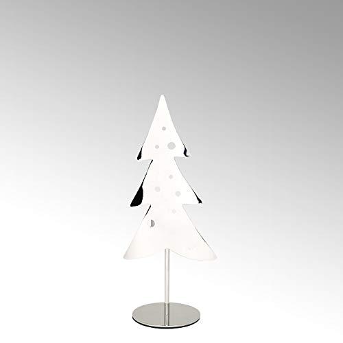 Lambert - Teelichthalter - WOODY - Weihnachtsbaum - klein - vernickelt - Höhe 28 cm