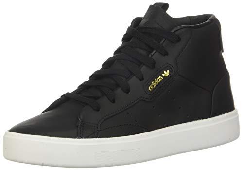 adidas Originals Women's Adidas Sleek MID W, core Black/Crystal White, 7 M US
