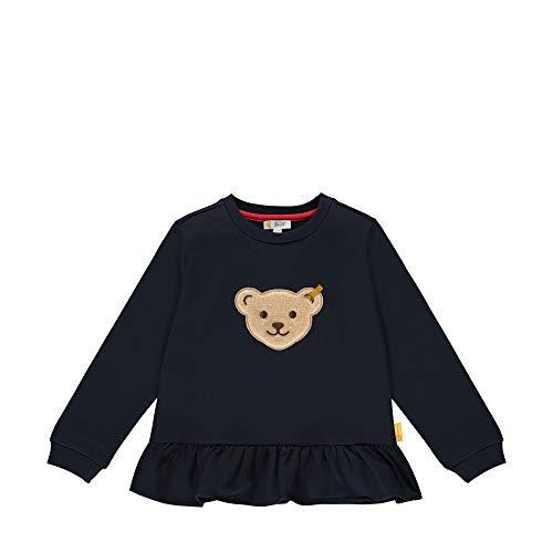 Steiff Mädchen mit süßer Teddybärapplikation Sweatshirt, Navy, 092