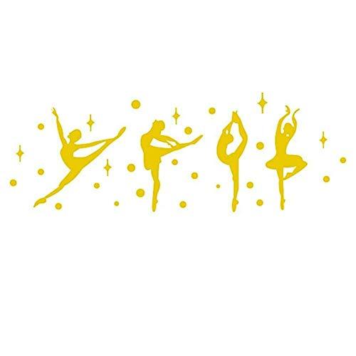Lidylinashop Papel Adhesivo Decorativo Espejos Adhesivos Mariposa Etiqueta de la Pared 3D Pegatinas de Pared Decoraciones de Pared para dormitorios Gold