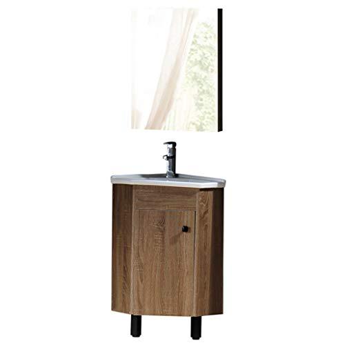 LCF moderne badkamer wastafel wastafel en wastafel combo kast wandmontage kast onderbouw keramische vat wastafel chorme kraan afvoer met spiegel wastafel set