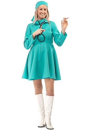 Original Replicas Komplettes Chirurgen Kostüm mit Mundschutz und Kopfbedeckung Krankenhaus Doktor Krankenschwester XL - XS bis 3XL