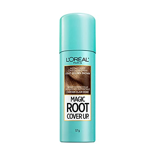 L'Oreal Paris Magic Root Cover Up Gray Concealer Spray Light Golden Brown 2 oz.(Packaging May Vary)