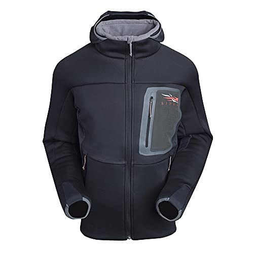 SITKA Gear Men's Hunting Traverse Cold Weather Hoody, Black, Large