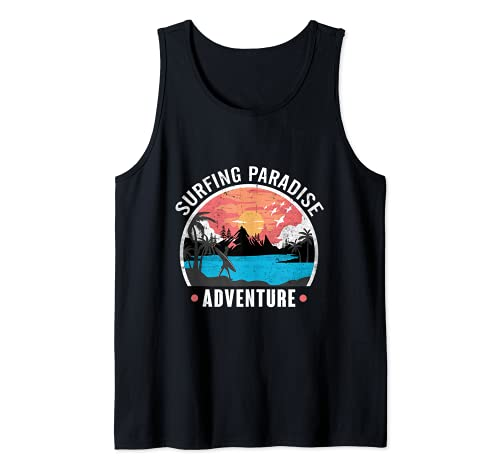 Surfing Paradise Diseño para un surfista Camiseta sin Mangas