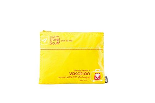 Organizer per Valigia o Zaino, GOX Premium Piccolo 190T Nylon Portatile Multifunzionale Custodia con Cerniera / Zip Bag Bagagli / Organizzatori di Viaggi / Organizer per Valigia o Zaino (Giallo)