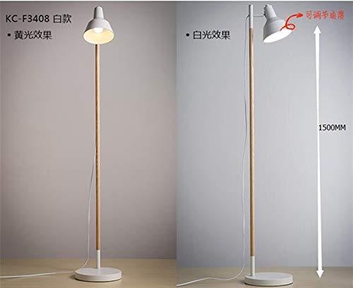GUONING-L Moderno Sólido simple de madera Lámpara de pie moderna japonesa de estar Estudio Dormitorio Dormitorio Pesca Vertical luces MZ4 Lámpara (Lampshade Color : Orange)