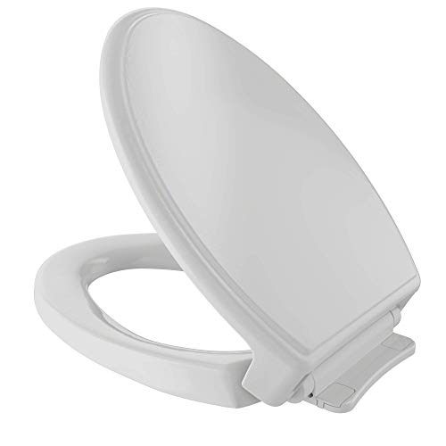 TOTO SS154#11 Traditional SoftClose Elongated Toilet Seat, Colonial White