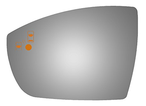 Burco 4542BC Driver Side Mirror Glass w/ Blind Spot & Cross Path for 2013-2017...