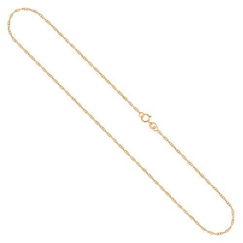 Goldkette, Doppelankerkette Gelbgold 375/9 K, Länge 40 cm, Breite 1 mm, Gewicht ca. 0.6 g, NEU