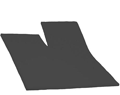 Dormisette Split Topper Spannbettlaken Boxspring Bett 180-200 x 200-220 cm 0213 Titanium