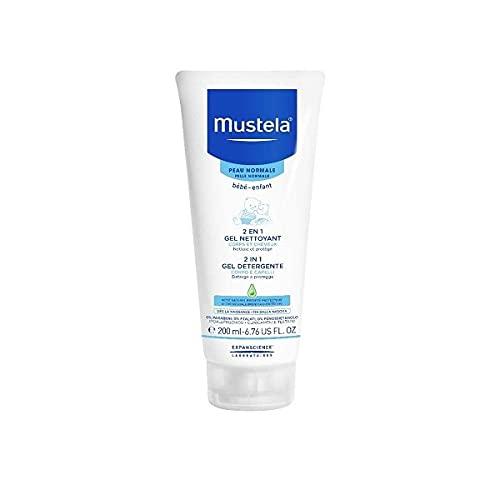 Mustela - Gel limpiador para bebés para el cuerpo y el cabello para pieles normales