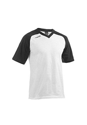 Errea T-Shirt d'entraînement Gym Course Running Blanc Manches Noir (s)