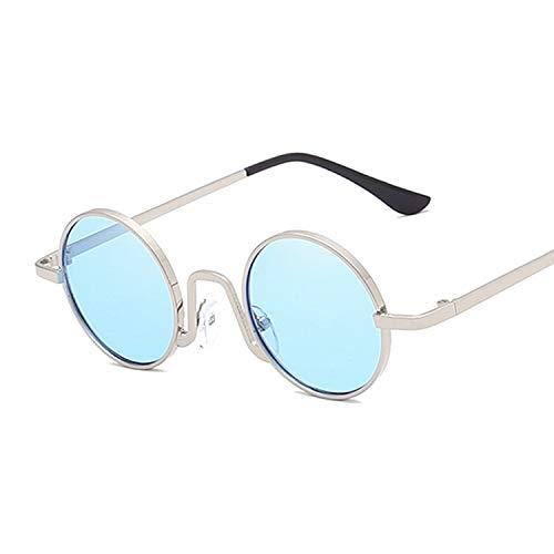Sunglasses Gafas de Sol de Moda Gafas De Sol Steampunk De Metal para Hombres Y Mujeres, Gafas Redondas De Moda, Diseñado