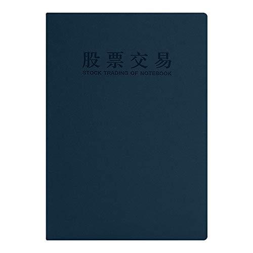Aktien-Tagebuch-Aktienhandel-NotizblockRekordbuch-Börsennotizbuch, blau