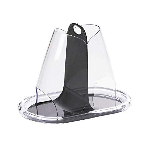 Omada Design portacialde per caffè e per le bustine di zucchero, in acrilico trasparente, disponibile in diverse colorazioni, Linea Crystal