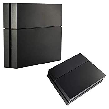 eXtremeRate Solid Matte Black HDD Bay Hard Drive Cover Shell for Playstation 4 Console Replacement Case Faceplate for PS4 Console - Console NOT Included