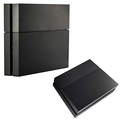 eXtremeRate Funda Externa Carcasa Exterior para PS4 Consola Cubierta reemplazable Tapa Intercambiable para Playstation 4 Consola Original(Negro)