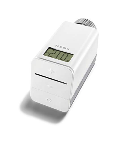 Bosch Smart Home Heizkörper Thermostat (mit App Steuerung, kompatibel mit Apple Homekit, Amazon Alexa und Google Assistant - Variante Deutschland)