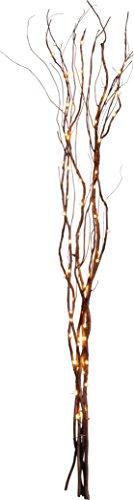 "Star 584-33, Weidendeko""Willow"", 24 warmwhite LED, Holz, Braun, 0.8 x 0.8 x 6.0 cm"