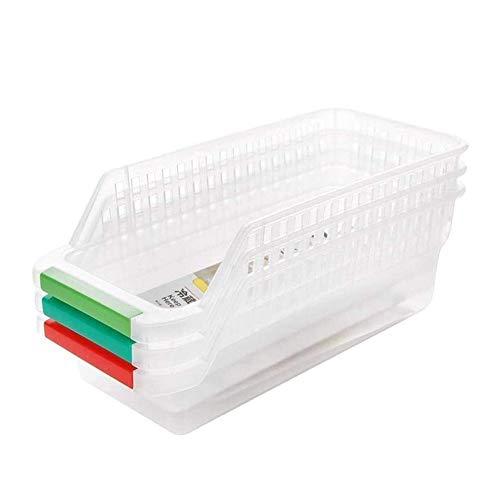 Huaduo Cajón para frigorífico, cesta de almacenamiento de alimentos y bebidas, cajón hueco, estante ajustable, cesta de almacenamiento para congelador, cocina, encimera, armario