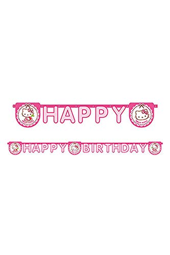 Procos 81799 baner - pendones (Hello Kitty, Multi, Birthday banner, Bolsa de...