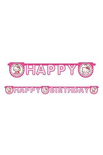 Procos 81799 Fest-Banner (Party, Geburtstag, Hello-Kitty, Mehrfarbig, Polyethylen-Tasche)
