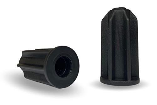 """Caster Socket Sleeve Round Inserts, 18 ga, 7/16"""" Inside Stem, 7/8"""" Outside Diameter - Set of 4"""