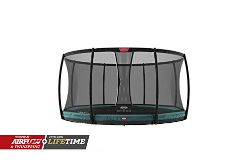 BERG Trampoline Inground Champion 11ft with Safety Enclosure Net Deluxe | Trampoline for kids, High Performance & Safety Features, Longer Lifetime Warrenty, Jump higher with TwinSpring and Airflow