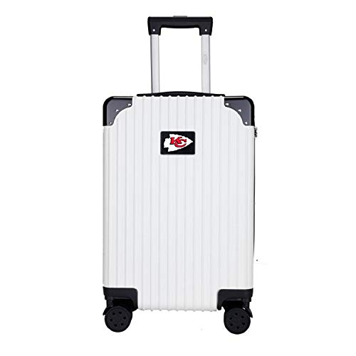 Lowest Price! Denco NFL Kansas City Chiefs Two-Tone Premium Carry-On Hardcase Luggage Spinner