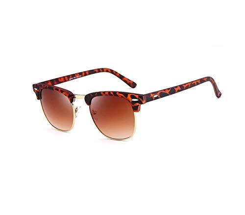 Top selling 2019 Luipaard Hot Sale oculos de sol feminino zonnebril Heren Klassieke Wenkbrauwen Half Rim Zonnebril Mode Oogkleding