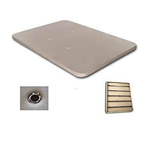 Duérmete Online Duérmete-Base Tapizada 3D Reforzada 5 Barras de Refuerzo y Válvulas de Ventilación Sin Patas, 4, Color Beige, 80x180