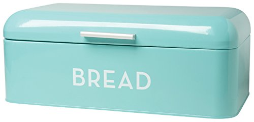 Big Save! Now Designs Large Bread Bin, Turquoise Blue