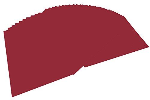 folia 6422 - Tonpapier dunkelrot, DIN A4, 130 g/qm, 100 Blatt - zum Basteln und kreativen Gestalten von Karten, Fensterbildern und für Scrapbooking