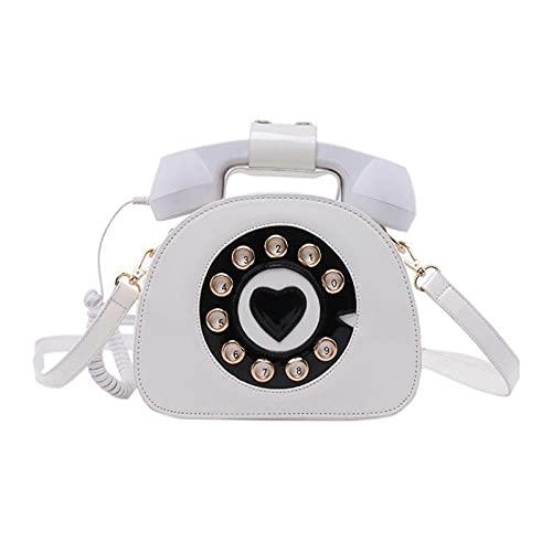 QIANJINGCQ Personalidad de moda todo-fósforo teléfono retro bolso brillante gran capacidad bolso de mensajero de un solo hombro bolso de color hit bolso de hombro para mujer