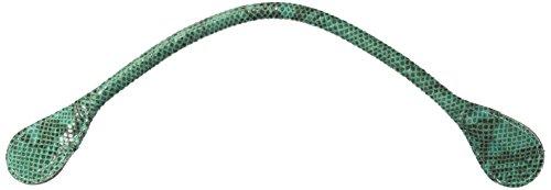 O bag Ecosnake Tubolari Corto, Borsa a Mano Donna, Verde, 0.5x0.5x44.5 cm (W x H x L)
