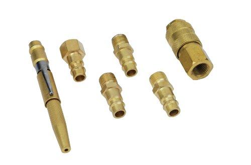 Brüder Mannesmann Werkzeug Schnellkupplungs-Set, 6-tlg., M15506