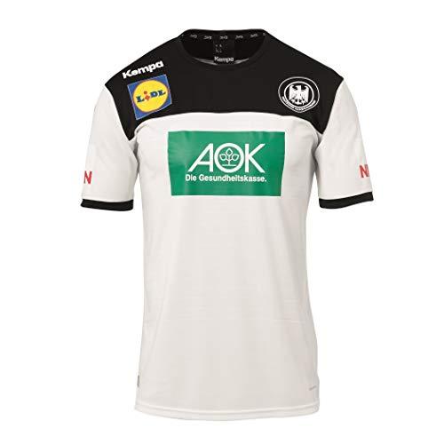 Kempa Handball Herren DHB Trikot Home 2018 2019 Deutscher Handballbund Heimshirt weiß schwarz
