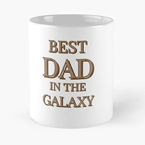 Taza de café con diseño de Star Fathers Dads Dad Idea Day Starwars Wars Husband Birthday