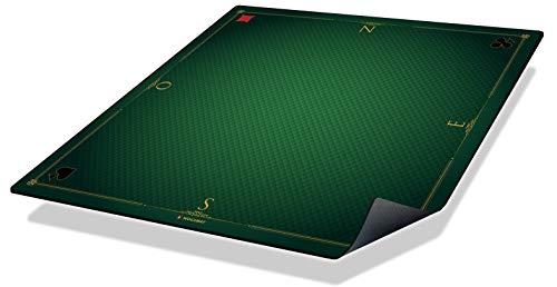Wogamat - Tapis de cartes Prestige vert 60 x 60 cm - Format belote, tarot