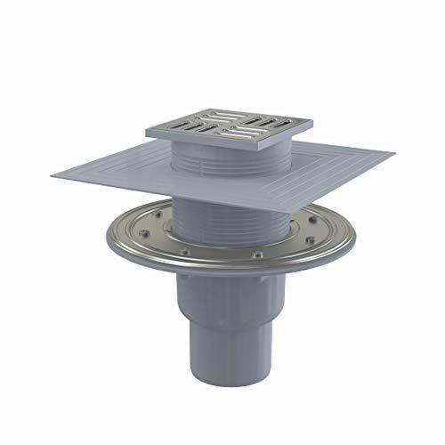 Bodenablauf Senkrecht Duschablauf Badablauf Design Edelstahl begehbare Dusche DN 50 Siphon Geruchsverschluss