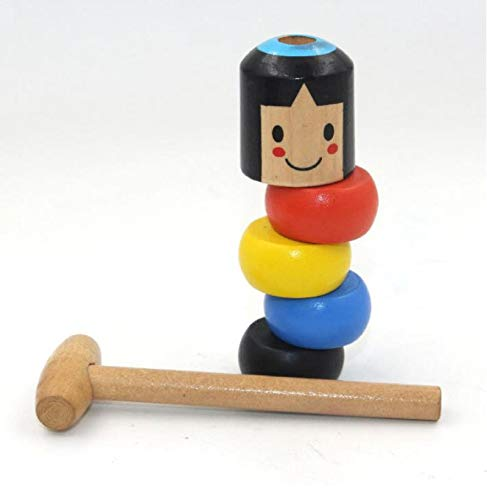 CZYSKY Daruma japonesmr Magic Juego, Juguete mágico de Madera hombrecito de Madera, Juguete Tradicional japonés, Juguete Educativo Divertido para niños, 1 PCS