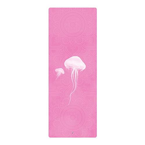 SLL- Yoga Mat Vrouw Verbrede Verdikte Beginner Sport Yoga Deken Verlengde Non-slip Fitness huis Mat Fitness Mat Verdikken (Color : Pink, Size : 183cm*68cm*1.5mm)